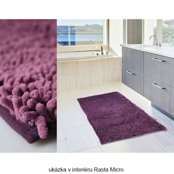 Koupelnová předložka Rasta Micro Tyrkysová Polokruh 80cm
