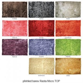 Koupelnová předložka Rasta Micro TOP Hnědá 70 x 140 cm