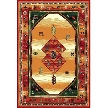 Kusový koberec Teheran 375 Brown 60 x 110 cm
